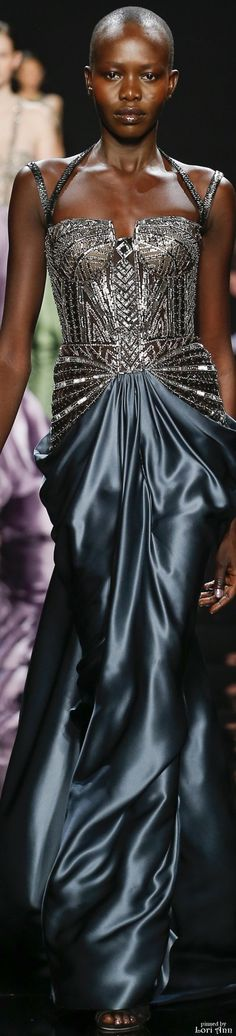 Reem Acra Fall 2016 Ready To wear~pinned by Linka Crosby Haute Couture Style, Couture Mode, Couture Fashion, Runway Fashion, High Fashion, Fashion Show, Luxury Fashion, Fashion Design, Women's Dresses