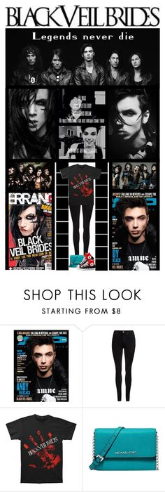 """""""BLACK VEIL BRIDES (Andy Biersack....then & now)"""" by ilovehedgehogs1029 ❤ liked on Polyvore featuring Dr. Denim, Michael Kors, emo, BLACKVEILBRIDES, andybiersack, alternative and andysixx"""