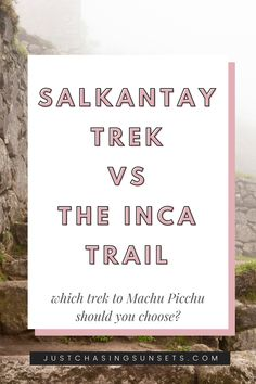 Do you want to hike to Machu Picchu? Did you know there's an alternative option to the Inca Trail for hiking to Machu Picchu? The Salkantay Trek is a stunning Machu Picchu Peru trek that you should definitely consider. Read this post for the differences between hiking the Salkantay Trek vs Inca Trail to Machu Picchu Peru Peru Travel, Solo Travel, Travel Guides, Travel Tips, Machu Picchu Travel, Plan Your Trip, Cool Places To Visit, Amazing Photography, Trek
