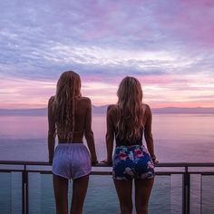 Beautiful sunset with friends