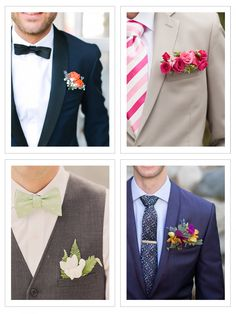 Check out these pocket boutonnieres for menswear inspiration - a unique spin on the traditional pocket square!1 | 2 | 3 | 4