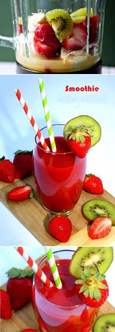 Strawberry and Kiwi Smoothie ! A snack or dessert vitamin and FRUIT, Kiwi Strawberry smoothie good ! Strawberry and Kiwi Smoothie ! A snack or dessert vitamin and FRUIT, Kiwi Strawberry smoothie good ! Apple Smoothies, Strawberry Smoothie, Juice Smoothie, Breakfast Smoothies, Smoothie Drinks, Healthy Smoothies, Healthy Drinks, Detox Drinks, Detox Juices