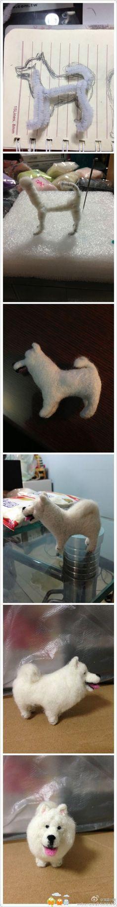 Come fare un cane in lana cardata