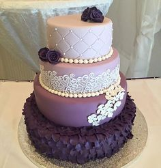 New cake decorating ombre wedding colors 50 ideas Pretty Cakes, Beautiful Cakes, Amazing Cakes, Candy Cakes, Cupcake Cakes, Cupcakes, Purple Cakes, Purple Wedding Cakes, Wedding Colors
