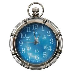 Check out this item at One Kings Lane! Porthole Eye of Time Clock, Nickel