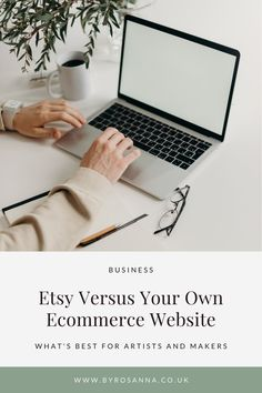 Should you stick with your Etsy shop, create an ecommerce website, or both? In this post I dive in to this important topic | #etsytips #ecommercetips #smallbiztips #smallbusinesstips