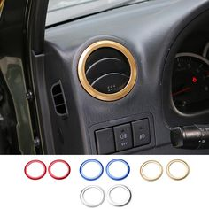 New Arrival Car front Air Conditioning Vents Decal Frame Cover Trim Air Outlet Aluminium for Suzuki Jimny 07+ 4 Colors #Affiliate