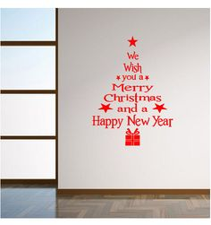 Рождественские поздравления серии елка гостиной окна спальни стеклянная стена съемный декоративные + бесплатная доставка купить на AliExpress