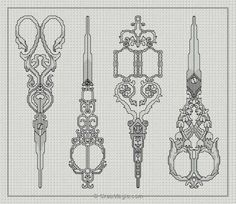 These would be awesome as tattoos Motifs Blackwork, Blackwork Cross Stitch, Blackwork Embroidery, Beaded Cross Stitch, Cross Stitch Borders, Diy Embroidery, Cross Stitch Designs, Cross Stitching, Cross Stitch Embroidery