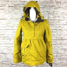 Holden womens Fawn pullover Eco snowboard/ski jacket size small mustard yellow  | eBay
