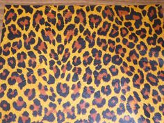 "Leather 12""x12"" Flawed Ochre Large Cheetah / Leopard Print Cowhide NOT Hair-On #542 2-2.5 OZ / .8-1 mm PeggySueAlso?"