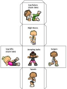 Fitness Cubes and Card Posters by Teaching with K | TpT