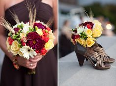 Fall wedding colors - flowers and shoes