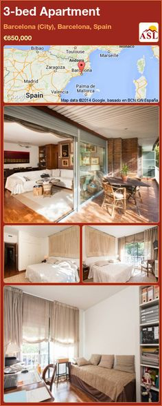 Apartment for Sale in Barcelona (City), Barcelona, Spain with 3 bedrooms - A Spanish Life Barcelona City, Barcelona Spain, Bilbao, Toulouse, Parking Space, Football Field, Large Bedroom, Apartments For Sale, Valencia