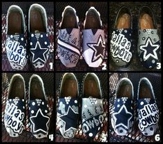 Handpainted Dallas Cowboys TOMS. $120.00, via Etsy.