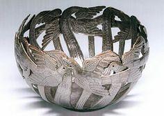 Haiti- Josnel Bruno- recycled oil drum bowl Finding Purpose, Finding Joy, Difficult Children, Haitian Art, Oil Drum, Metalworking, Metal Art, Drums, Bouquets