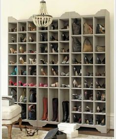 Great idea if you have a lot of shoes and very little closet space!