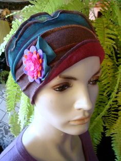 Womens Chemo Hat Headcover Flapper chemo hat by GypsyLoveHeadbands, $48.00