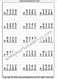 digit addition  no regrouping   worksheet  addition worksheets