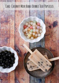 Chai-Coconut Milk Boba {Bubble Tea} Popsicles - BoulderLocavore.com