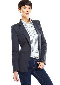 CASUAL COUTURE Zip-Waist Blazer