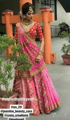 Trendy hair styles indian navratri - New Site Indian Bridal Outfits, Indian Bridal Hairstyles, Indian Bridal Lehenga, Indian Bridal Fashion, Indian Bridal Wear, Indian Designer Outfits, Bridal Dresses, Braided Hairstyles, Dress Indian Style