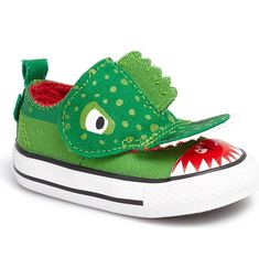 Converse Chuck Taylor® All Star® 'No Problem - Alligator' Sneaker (Baby, Walker & Toddler) Baby Sneakers, Baby Shoes, Baby Boy Accessories, Converse Chuck Taylor All Star, Chuck Taylors, Nordstrom, Kids, Color, Clothing