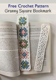 Granny Square Bookmark free crochet pattern by Little Monkeys Design
