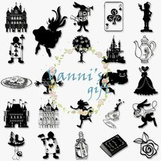 38 Alice in Wonderland Black Digital Download by VannisGift