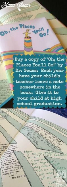 Seuss Book Graduation Gift Tradition Such a sweet tradition that will turn into a cherished gift by your kids!Such a sweet tradition that will turn into a cherished gift by your kids! Dr. Seuss, Kids And Parenting, Parenting Hacks, Practical Parenting, Parenting Articles, Parenting Classes, Parenting Styles, High School Graduation Gifts, Graduation Ideas