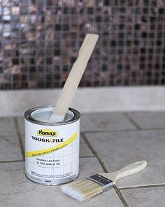 how to paint kitchen tile, update kitchen backsplash quickly, epoxy paint ceramic tile backsplash, kitchen remodel, redo, the zen bitch, quick kitchen remodels