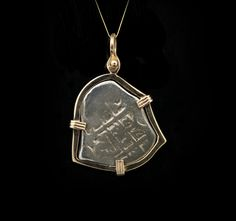 14k yellow gold wrapped Roman coin pendant (ESTATE15040) Abracadabra Jewelry/Gem Gallery - ESTATE JEWELRY