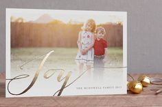 Cards imprinted with gold foil... beautiful and different!  #cards #christmas #harvardhomemaker