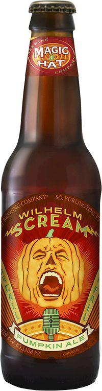 Wilhelm Scream Pumpkin Ale - Magic Hat Brewing  South Burlington, Vermont 5.0% ABV  20 IBU