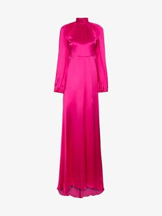 ce05e6f92360 Shop Gucci high neck silk maxi gown from our Evening Dresses collection.