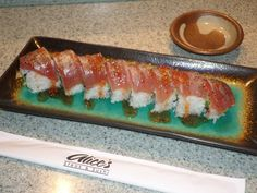 Sweet and Spicy Tuna Roll at Alice's Steak and Sushi. www.bluelakecasino.com