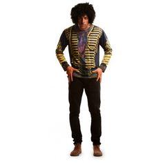 Camiseta hiperrealista de Jimi Hendrix para hombre #Disfraz #Camiseta