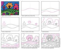 Pop Art Landscape. Now in print friendly format.