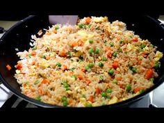 como hacer el original arroz chino frito - YouTube Chopped Salads, Arroz Frito, Fancy Drinks, Fried Rice, Lasagna, Bbc, Cooking, Healthy, Ethnic Recipes