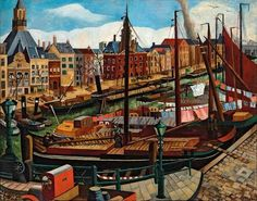Charley Toorop - Leuvehaven, Rotterdam, 1926. Museum Boijmans van Beuningen Rotterdam.