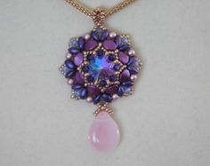 Bead Pendant Tutorial Beaded Pattern Instructions by poetryinbeads