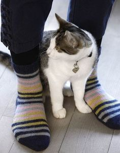 Dejlige varme strømper ♥ Crochet Socks, Knit Crochet, Boot Cuffs, Leg Warmers, Cardigans, Stockings, Knitting, Cats, Animals