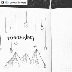 "701 Likes, 2 Comments - Bullet Journal features (@bujobeauties) on Instagram: ""Such a beautiful and simple November spread by @bujowithheart…"""