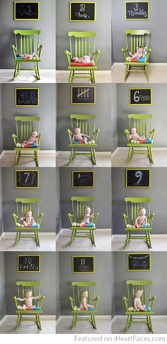 Creative Ways To Document Baby's First Year in Photos - Karas Party Ideas - Featured on I Heart Faces