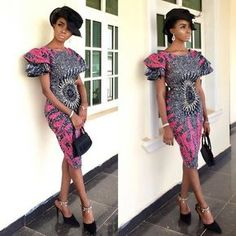 If yes, try some of the latest Ankara styles we have lined up for you today. They are sexy, sassy and look absolutely gorgeous. This season, Ankara fashion has a kind of 'viby' feel to it. These ladies have got their name on each styl African Dresses For Women, African Print Dresses, African Fashion Dresses, African Attire, African Wear, Ankara Fashion, African Style, African Design, African Beauty