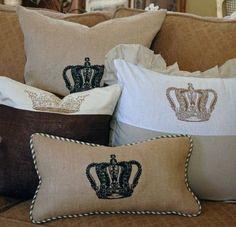 Hessian pillows
