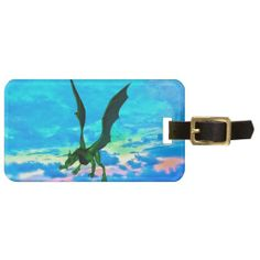 Fantasy Dragon Luggage Tag