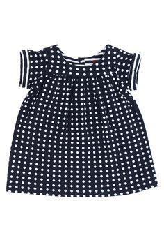 Parma Navy White Dot Dress