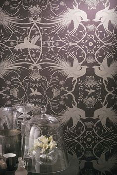 Pheasant wallpaper by Catherine Martin