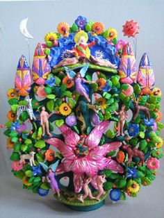 Tree of life by Great Master of Mexican Folk Art Tiburcio Soteno